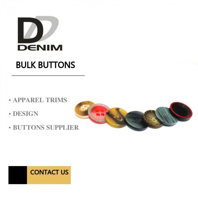 Polyester Bulk Clothing Buttons 4 Holes Colorful Assembed Combination Button