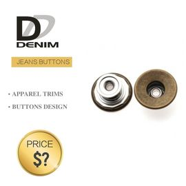 China Classic Anti Brass Denim Metal Buttons , Denim Jeans Trousers Button factory