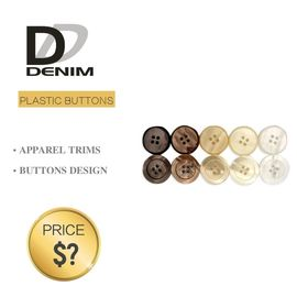 China Plastic Shiny Pearl Denim Shirt Buttons White / Black Color With 4 Holes factory