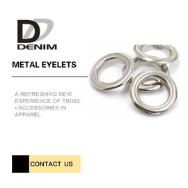 China Silver Color Metal Eyelet Rings Washable Test Passable Quality CPT Dhaka factory