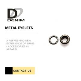 China Durability & Being crack-proof  Brass Metal Eyelets for Garment Fabric Metallic Rings Color DTM factory