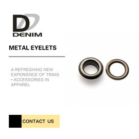 China Gunmetal Large Size Metal Eyelet Rings for Clothing Fabric Flat Eyelet Trims Accessories factory