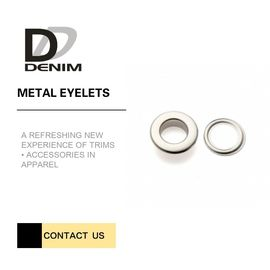 Shiny Sliver Rose Gold Bulk Grommets Eyelets Custom Metal Eyelets For Clothing