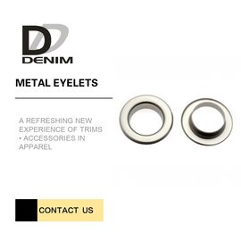 China Shiny Silver Metal Eyelet Rings Nickel - Free With Plating Techniques factory