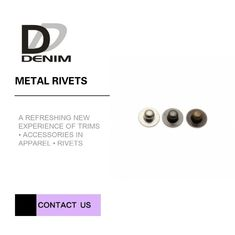 China Customizations Round Head Decorative Brass Rivets , Decorative Rivets For Clothing factory