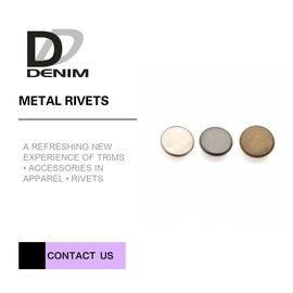 China Small Gold Flat Decorative Brass Rivets For High - Street Fashion & Clothing Bulk swatches Rivet factory