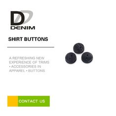 China 18l 4 Holes Black Dress Shirt Buttons Resin Material High Temperature Resistance factory