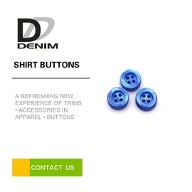 China Resin Colorful Dress Shirt Buttons 4 Holes Sewing Buttons Accessories Bule Plastic Bulk Buttons factory