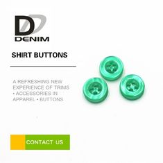 China 10mm Small Fancy Shirt Buttons , Green Resin Buttons Lightweight ISO 9001 Approved factory
