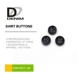 4 Holes Black Round Buttons Bulk For White T - Shirt / Printed Dress supplier