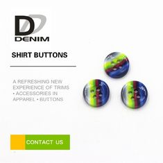 China Rainbow Fancy Dress Shirt Buttons Abundant Designs For Clothing Industry factory