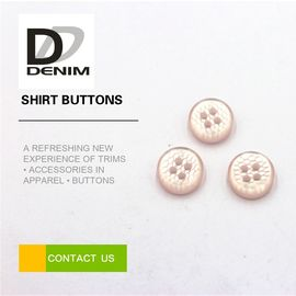 China Pink Pearl Unique Shirt Buttons 4 Holes High Temperature Resistance factory