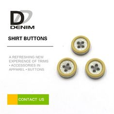 Resin Plastic Dress Shirt Buttons , Yellow Boy Or Girl Buttons 12L 14L 16L 18L
