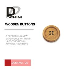 China 4 Holes Wooden Jacket Buttons Nickel Free DIY Clothing Accessories factory
