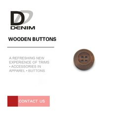 China Easy Clean Decorative Wooden Buttons For Shirt Overcoat Apparel Sewing factory