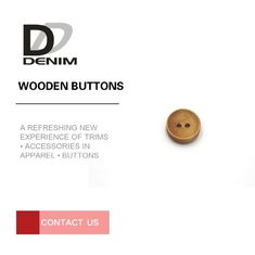 China Fashion Design Wooden Blazer Buttons , 2 Hole Wooden Buttons Strong Rigidity factory