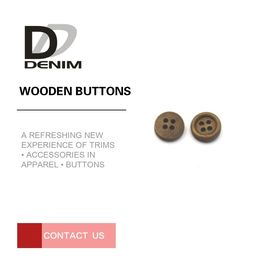 Jacket Craft Coloured Wooden Buttons Good Texture Environmentally Friendly