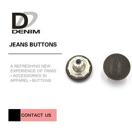 China Decorative Fancy Metal Clothing Buttons Replacement For Jacket And Suit factory
