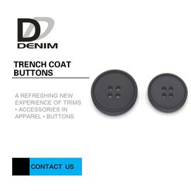 China Shiny Unsaturated Polyester Trench Coat Buttons , Flat Pearl Buttons Test Passable factory