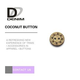 Eco Friendly Coloured Wooden Buttons 2 Holes With Strong Rigidity