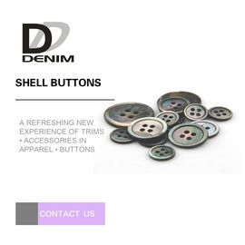 China Custom Natural Black Shell Button Butterfly 2 / 4 Holes High-End Buttons Lead - free factory