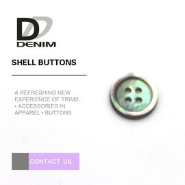 China 4 Hole High Durability Pearl Shell Buttons Four Holes For Leisure Trench Coat & Chiffon factory
