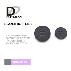 Extra Large Blazer Coat Buttons 4 Holes Plastic Garment Accessories
