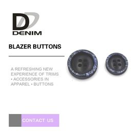 4 Holes Snow Design Black Blazer Buttons , Custom Apparel Buttons Testing Pass