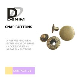 China Fashionable Round Brass Buttons , Strong Rigidity Custom Snap Buttons factory