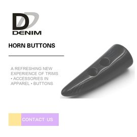 China Black Natural Horn Shaped Buttons Coats Down Jackets Clothing Accessories factory