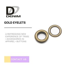 Eco Friendly Down Jacket Buttons Brass Hidden Eyelets 12L-60L Size Available