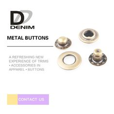 China Anti-Brass Snap Buttons Flat Ring 4 Parts 17MM Lead Free Eco-Friendly factory