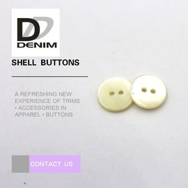 China Small Size White Pearl Shell Buttons Bulk For High - Grade Shirt And Sweater factory