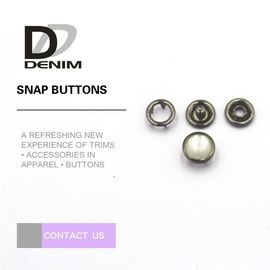 Custom Bulk Clothing Buttons Prong Snap Fastener 18L Size For Kids Clothing