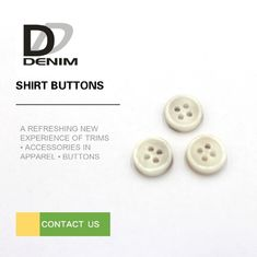 Commercial Tiny Small White Buttons , Resin Material Custom Clothing Buttons supplier