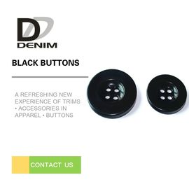 Bulk Flat Black Sewing Buttons • 4 holes • Plaid blazer • Clothing Accessories