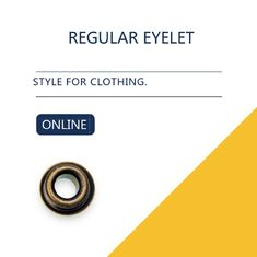 Custom Washer Flat Brass Eyelets Ring Type & Grommets Designs For Clothing