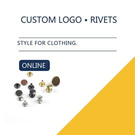 Small Size Jeans Pocket Custom Logo / Brass Metal Jeans Rivet / Bulk Rivet 2 Parts Leather Clothing supplier