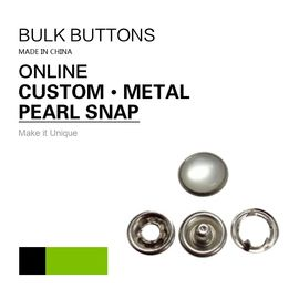 China Custom Clothing Snap Buttons Antique Sliver Pearl Snaps Bulk Buttons factory