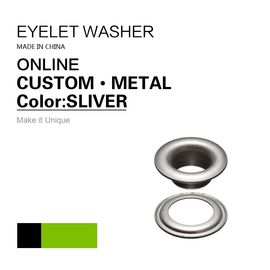 China Custom Flat Silver Eyelets Ring Type & Grommets Designs For Clothing factory