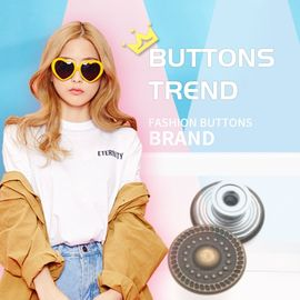 Fashion Tack Denim Metal Body Bulk Antique Brass Button For Trousers