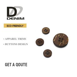 China Customized Eco - Friendly Coconut Bulk Buttons 2 / 4 Holes Nature factory