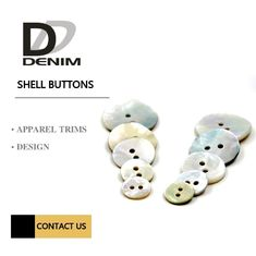 China Customized 2 Holes Shell Buttons Natural Akoya Refined Luxury Buttons factory