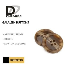 Polyester  - On Galalith Buttons 4 Hole Button & Accessories