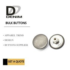 Antique Silver Metal Bulk Buttons DENIM Skirt & Pant New Collection Trend