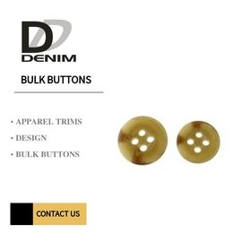 Resin Pattern Horn Trench Coat Buttons , Sew On Snap Buttons 4/2 Holes