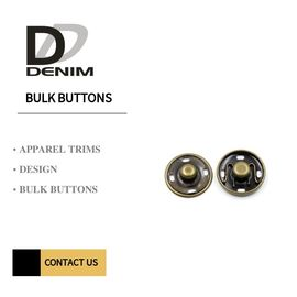 Small Brass Metal Buttons Electroplating Color Snap Buttons For Clothing