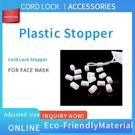 Plastic Face Mask Stopper , Cord Lock Stoppers In Black Color Eco-Friendly supplier