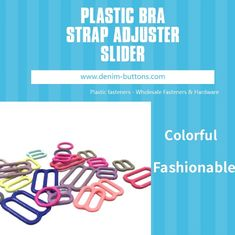 DTM Nylon Coated Plastic Bra Strap Adjuster Slider