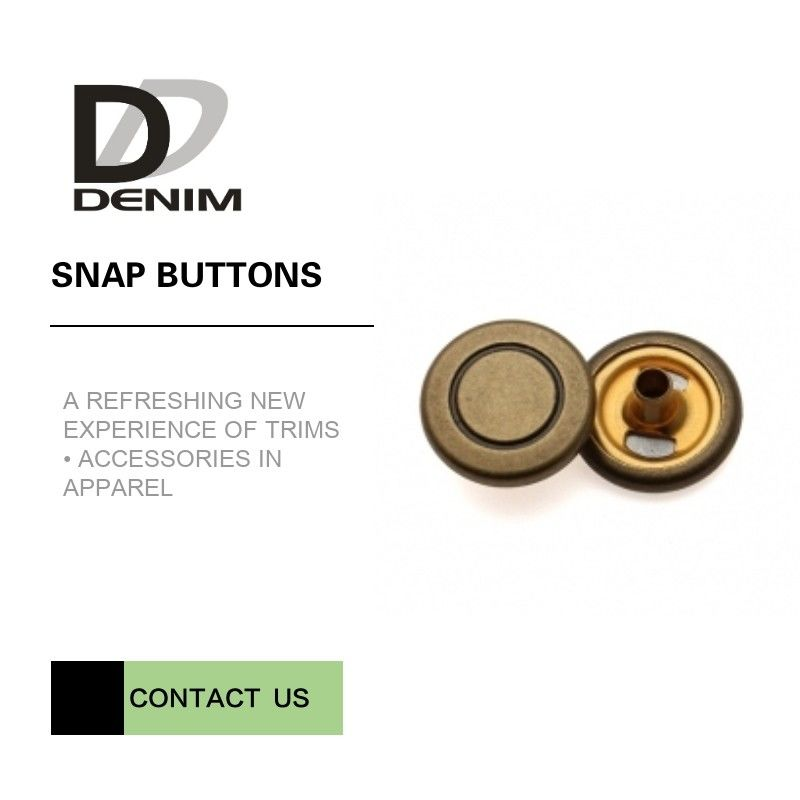 Bulk Clothing Snap Fastener Buttons • Antique Brass Press Studs • Press Poppers Size Diameter supplier